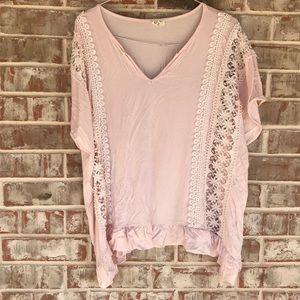 POL Crochet Oversize LUXE soft doily lace tunic
